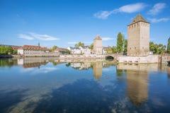La Petite France vu du barrage de Vauban Images libres de droits