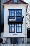 La petite maison à Bergen, Norvège photos libres de droits
