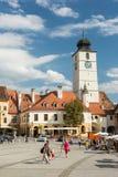 La petite place de Sibiu Image libre de droits