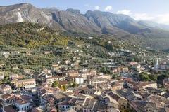 La petite ville de Malcesine près de lac Gardasee Images libres de droits