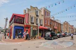 La peu d'Italie à Baltimore, le Maryland images libres de droits