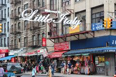 La peu d'Italie, New York photographie stock