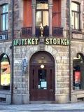 La pharmacie la plus ancienne à Stockholm photographie stock libre de droits