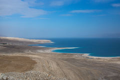 La photo de panorama de la mer morte en Israël de la montagne de masada Photo stock