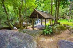 La photo de paysage, cascade de la Thaïlande Image libre de droits