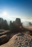 La photo des montagnes de Meteora Images stock