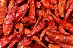 La photo est poivre sec dans le supermarché Il est fabriqué en Chine Le poivron rouge de poivre sec est fait par les produits sec Photographie stock libre de droits