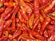 La photo est poivre sec dans le supermarché Il est fabriqué en Chine Le poivron rouge de poivre sec est fait par les produits sec Images libres de droits