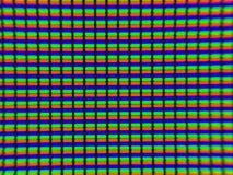 La photo micro de l'affichage d'affichage à cristaux liquides de télévision Photo stock
