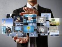 La photo numérique de prévision d'homme Photos libres de droits