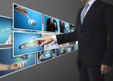 La photo numérique de prévision d'homme Photos stock