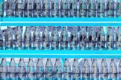 La photographie thermo du coca-cola met la ligne en bouteille image stock