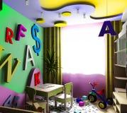 La pièce d'enfants Photographie stock libre de droits
