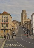 La pièce de construction de mémorial de volontés de l'université de Bristol en haut de rue de parc image libre de droits