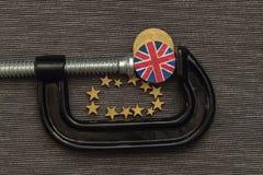 La pièce de monnaie britannique est pression de bride Images libres de droits