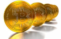 La pièce de monnaie BTC de peu le nouveau mone virtuel, 3d rendent Images libres de droits