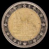 La pièce de monnaie commémorative de l'euro deux a publié par l'Allemagne dépeignant en 2011 Photo libre de droits