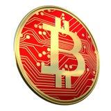 La pièce de monnaie 3d de Bitcoin BTC rendent Photographie stock