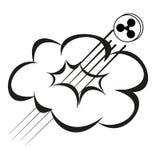 la pièce de monnaie d'ondulation se lève par le nuage illustration de vecteur
