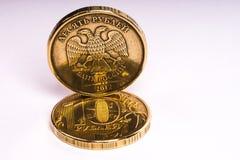 La pièce de monnaie Dix roubles Photos libres de droits