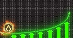 La pièce de monnaie de Lisk LSK d'or accélère et décolle vers le haut de la flèche de la tendance clips vidéos