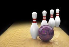 La pièce de rechange de bowling de Dix bornes a appelé Clothesline dedans   Photo stock