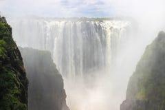 La più grande cascata nel mondo è Victoria fotografia stock