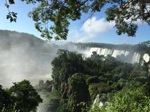 La più grande cascata nel mondo - lato delle cascate di Iguazu Argentina immagini stock libere da diritti