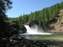 La più grande cascata sul fiume Urich Fotografia Stock