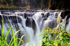 La più grande cascata in Taipei, Taiwan Fotografie Stock Libere da Diritti