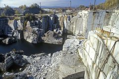 La più grande cava monumentale del granito in sbarra, VT fotografia stock libera da diritti