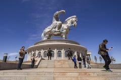 La più grande statua del mondo di Chinghis Khan Fotografia Stock Libera da Diritti