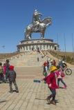 La più grande statua del mondo di Chinghis Khan Immagine Stock Libera da Diritti