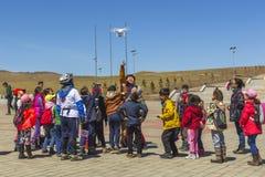 La più grande statua del mondo di Chinghis Khan Fotografie Stock