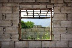 La più vecchia costruzione non è rifinita. Fotografia Stock