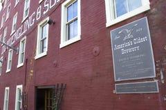 La più vecchia fabbrica di birra dell'America Fotografie Stock Libere da Diritti