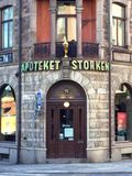 La più vecchia farmacia a Stoccolma fotografia stock libera da diritti