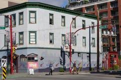 La più vecchia vicinanza residenziale di Vancouver Fotografia Stock