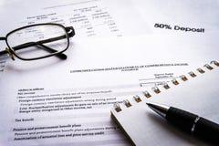La pianificazione aziendale finanziaria, equilibra il portafoglio di investimento Composizione in affari immagine stock libera da diritti