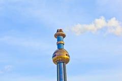 La pianta del riscaldamento centrale di un quartiere a Vienna ha progettato da Friedensreich Hundertwasser Fotografia Stock