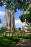 La pianta nell'alloggio di Singapore abbellisce Immagini Stock