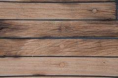 La piattaforma è sulla nave Struttura di legno superficie brown Fotografie Stock