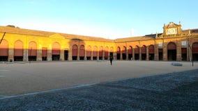 La piazza di Lugo, Italia immagini stock libere da diritti