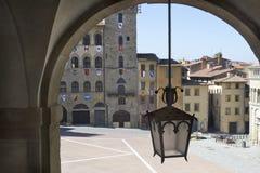 La piazza grande di Arezzo Fotografia Stock