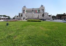 La piazza Venezia è il più bello dei quadrati di Roma Fotografia Stock