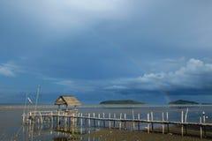 La piccola baracca sulla riva Fotografia Stock Libera da Diritti