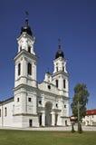 La piccola basilica di St Michael in Marijampole lithuania immagine stock libera da diritti