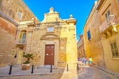 La piccola cappella in Mdina, Malta fotografie stock