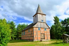 La piccola chiesa di legno Fotografia Stock Libera da Diritti