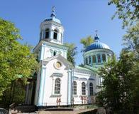 La piccola chiesa nella foresta Immagini Stock